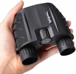 SkyGenius 10x25 Compact Binoculars for Bird Watching, High P