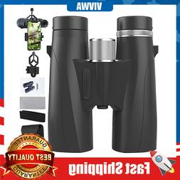 10x42 Binoculars for Adults Compact Waterproof Fog-Proof wit