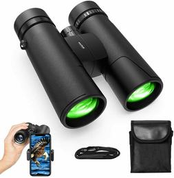 10X42 Compact Binoculars for Adults Kids with Phone Adapter,