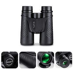 10X42 Compact HD Waterproof Binoculars for Adults Hunting Bi