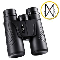 10X42 Compact with Harness Strap Binoculars Ultra HD for Adu