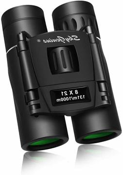 8x21 small binoculars compact lightweight for adults