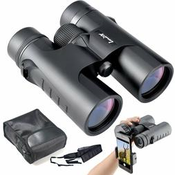 Binoculars Compact for Bird Watching, 10x42 Bright and Clear