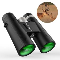 HD 12x42 Compact Binoculars Night Vision Outdoor Travel Hunt