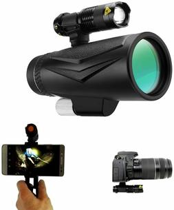 Flashlight supported  Monocular Starscope Phone Camera Zoom