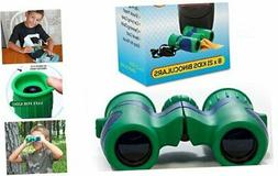 Kidwinz Original Compact 8x21 Kids Binoculars Set - High Res