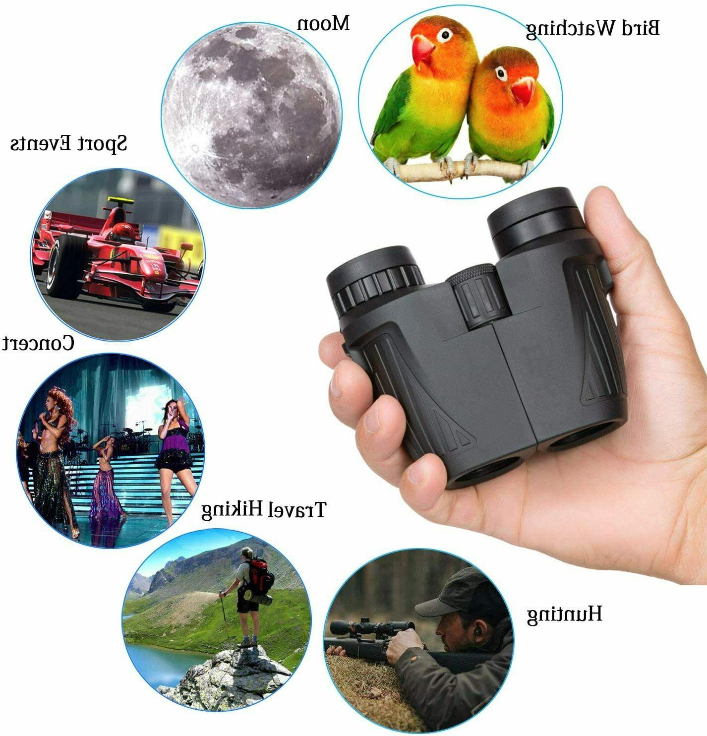 Compact for Adults Kids 12x25 HD Wide-Angle Lightweight