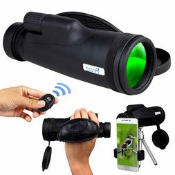 Monocular Telescope for Smartphone, HD 12x50 Zoom with Phone